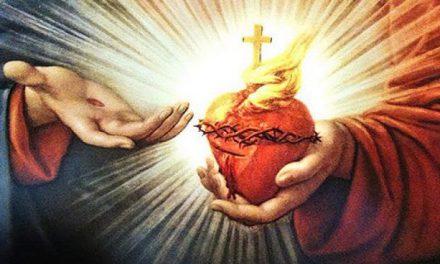 Coração de Jesus, cheio de amor e bondade