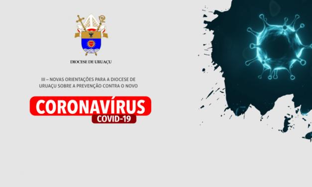 Novas orientações para a Diocese de Uruaçu sobre a prevenção contra o novo coronavírus (COVID-19)