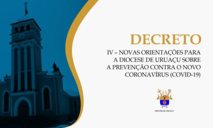 Orientações para a Diocese de Uruaçu sobre a prevenção do COVID-19