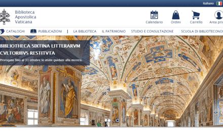 Biblioteca Vaticana com novo site: mais ágil e intuitivo