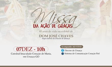 Dom José Chaves celebrará 65 anos de ordenação presbiteral