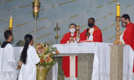 Reitor da Basílica do Divino Pai Eterno na Romaria de Nossa Senhora da Abadia